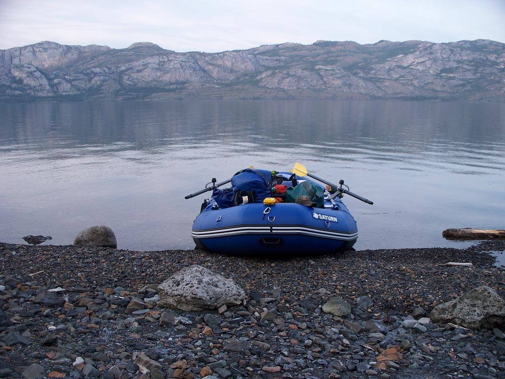 Customer Photo - 14' Saturn Whitewater Raft - A 2009 Model With Thousand of River Miles on the Yukon