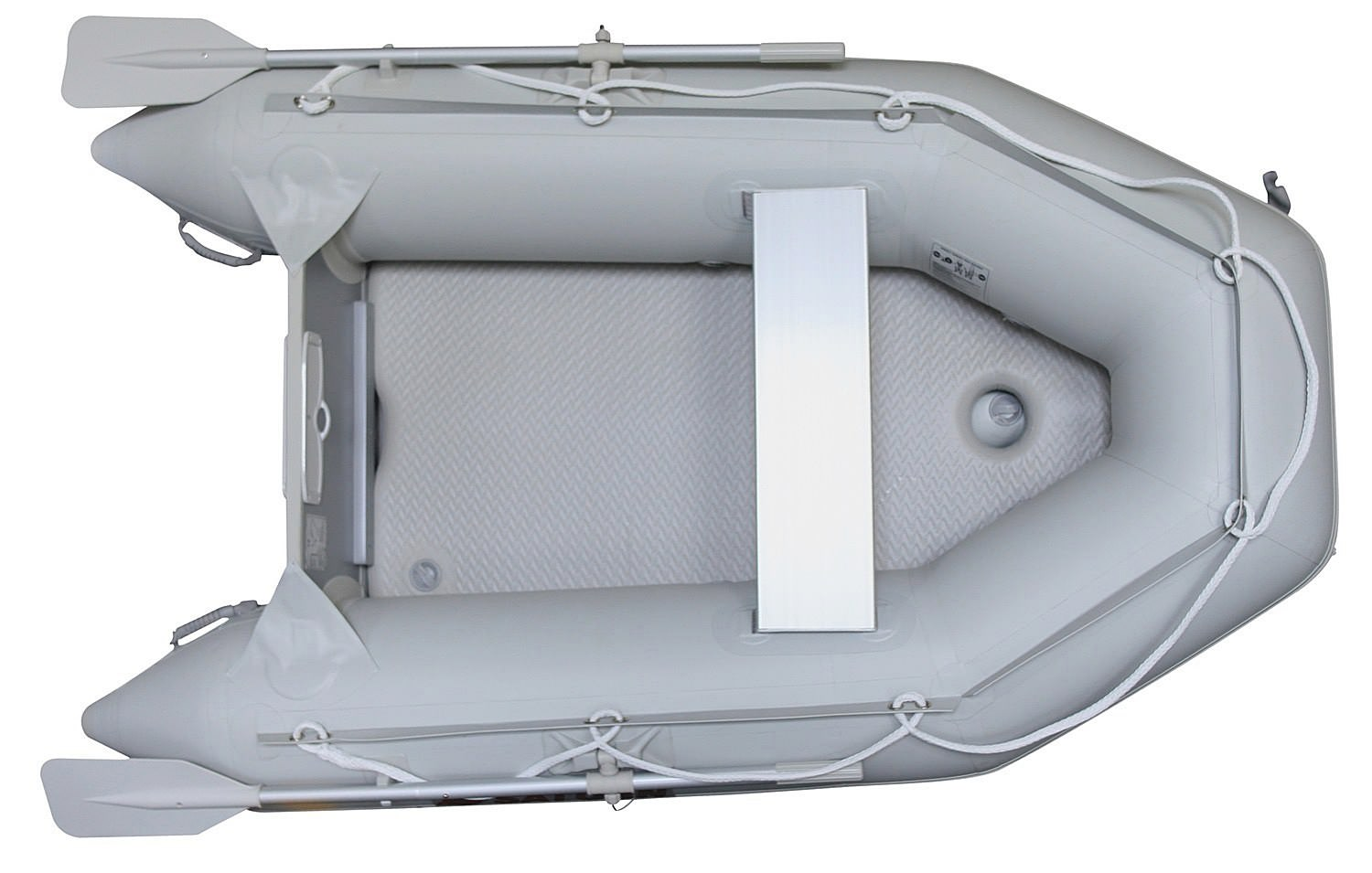 "Saturn 7'6"" Dinghy - Light Grey - Top View"