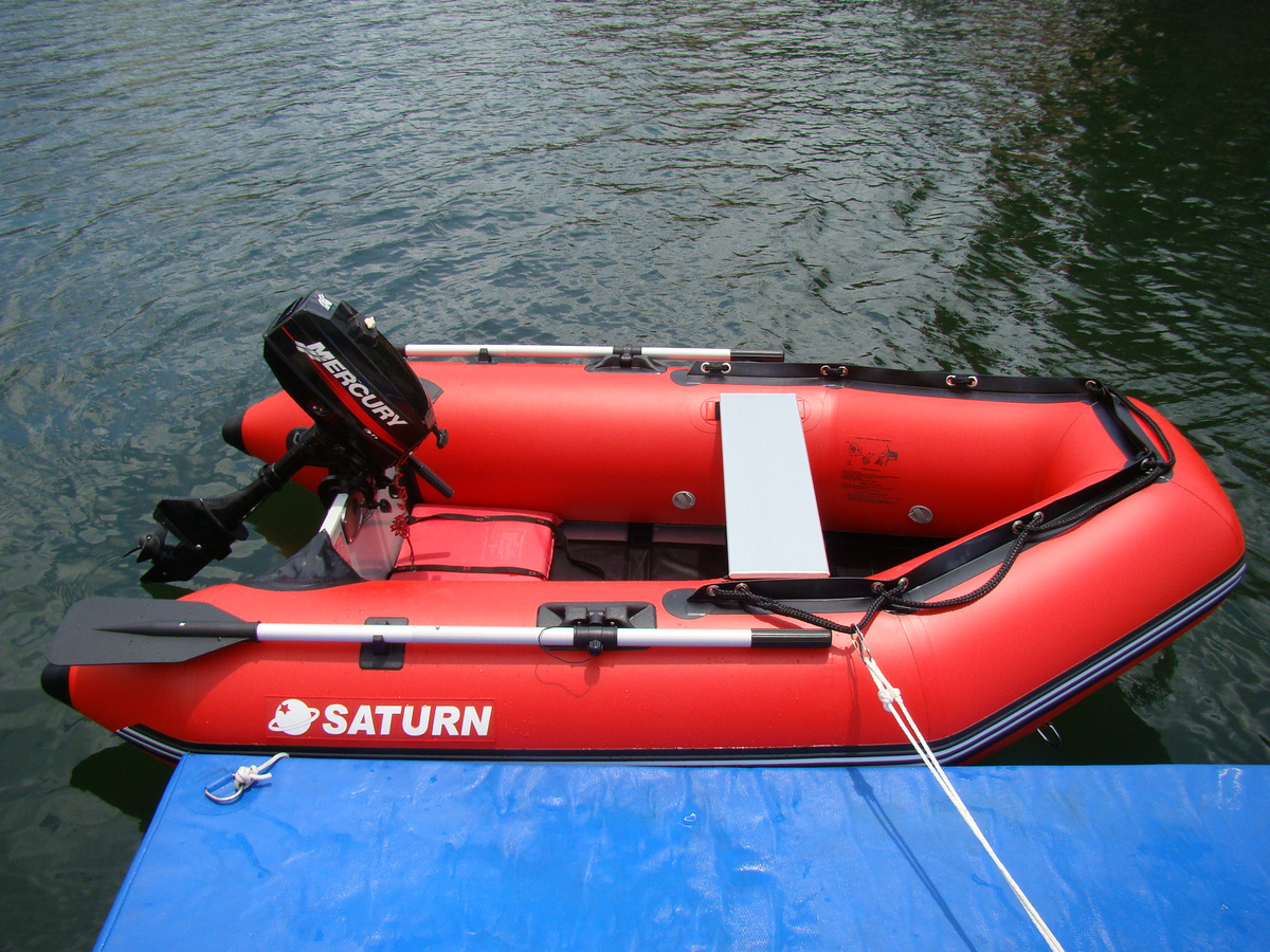 "8'6"" SS260 Saturn Dinghy - Slated Floor Design - With Outboard Motor"