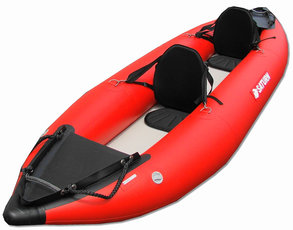 13' Saturn Inflatable Expedition Kayak (2 HighBack Kayak Seats Shown Are Optional Upgrade)