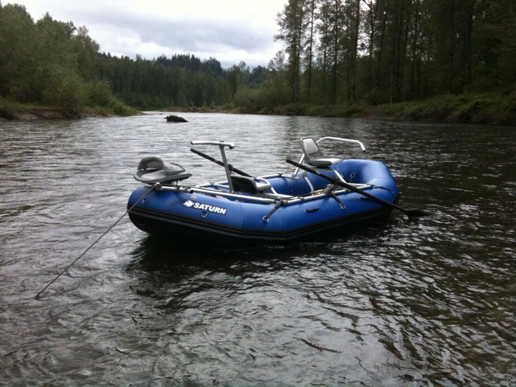 Customer Photo - 14' Saturn Whitewater Raft with NRS Fishing Frame Package from Saturn Rafts