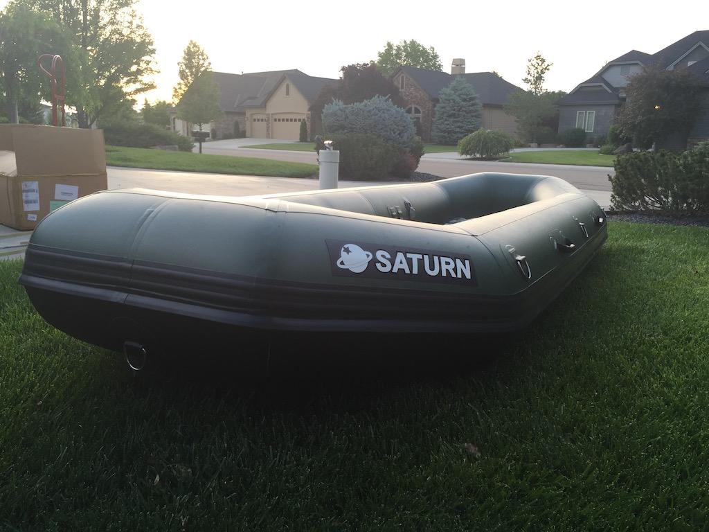 "2017 12'6"" Saturn Soloquest Self-Bailing Raft"