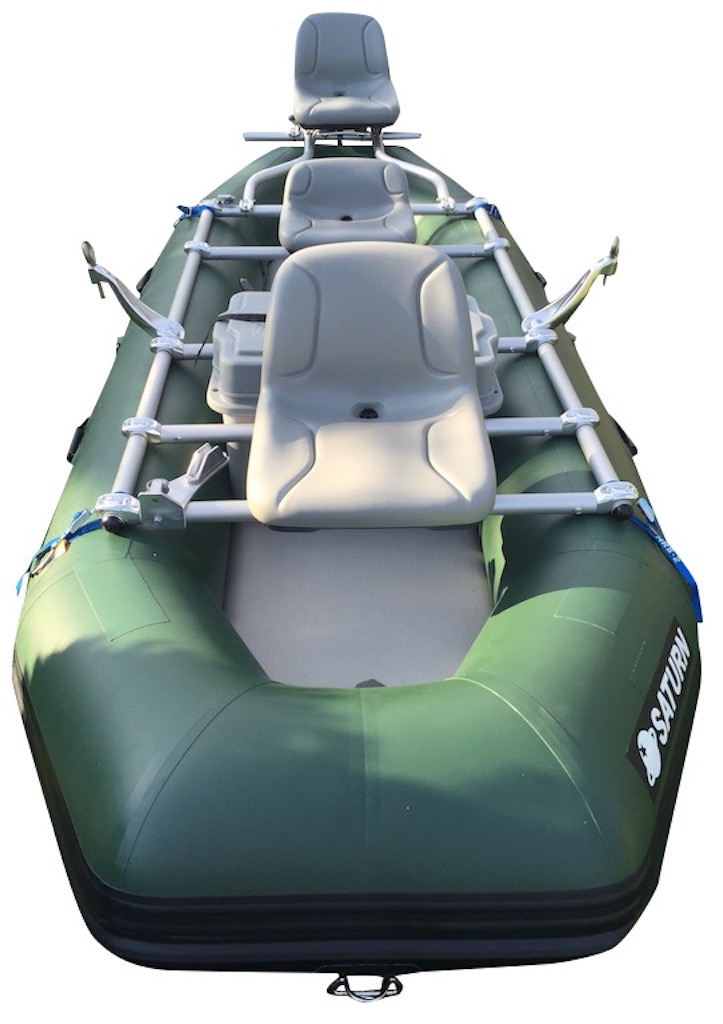 "12'6"" Saturn Soloquest Raft with NRS Fishing Frame Package - $2600"