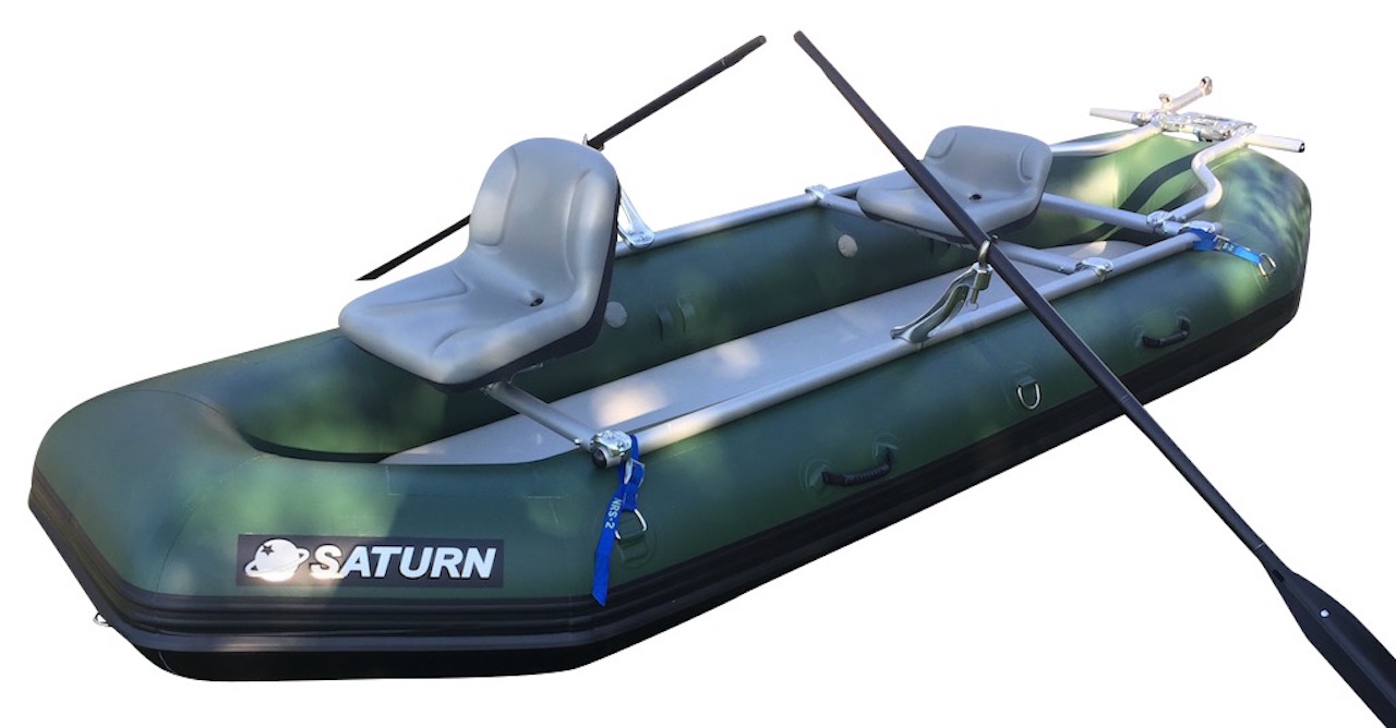 "12'6"" Saturn Soloquest Raft with 2 seat NRS Fishing Frame"