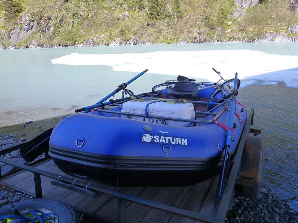 Customer Photo - 14' Saturn Whitewater Raft - Alaska Raft Connection Fishing Trip