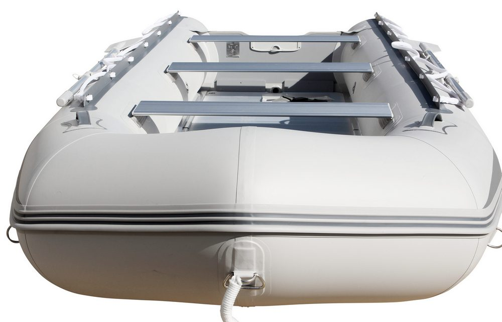 15' Saturn Inflatable SD460 Budget Boat - Grey Front View