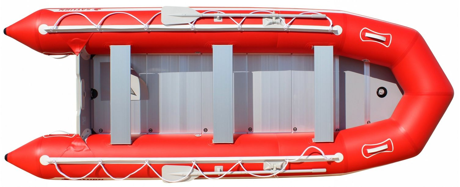 15' Saturn Inflatable SD460 Budget Boat - Red Top View