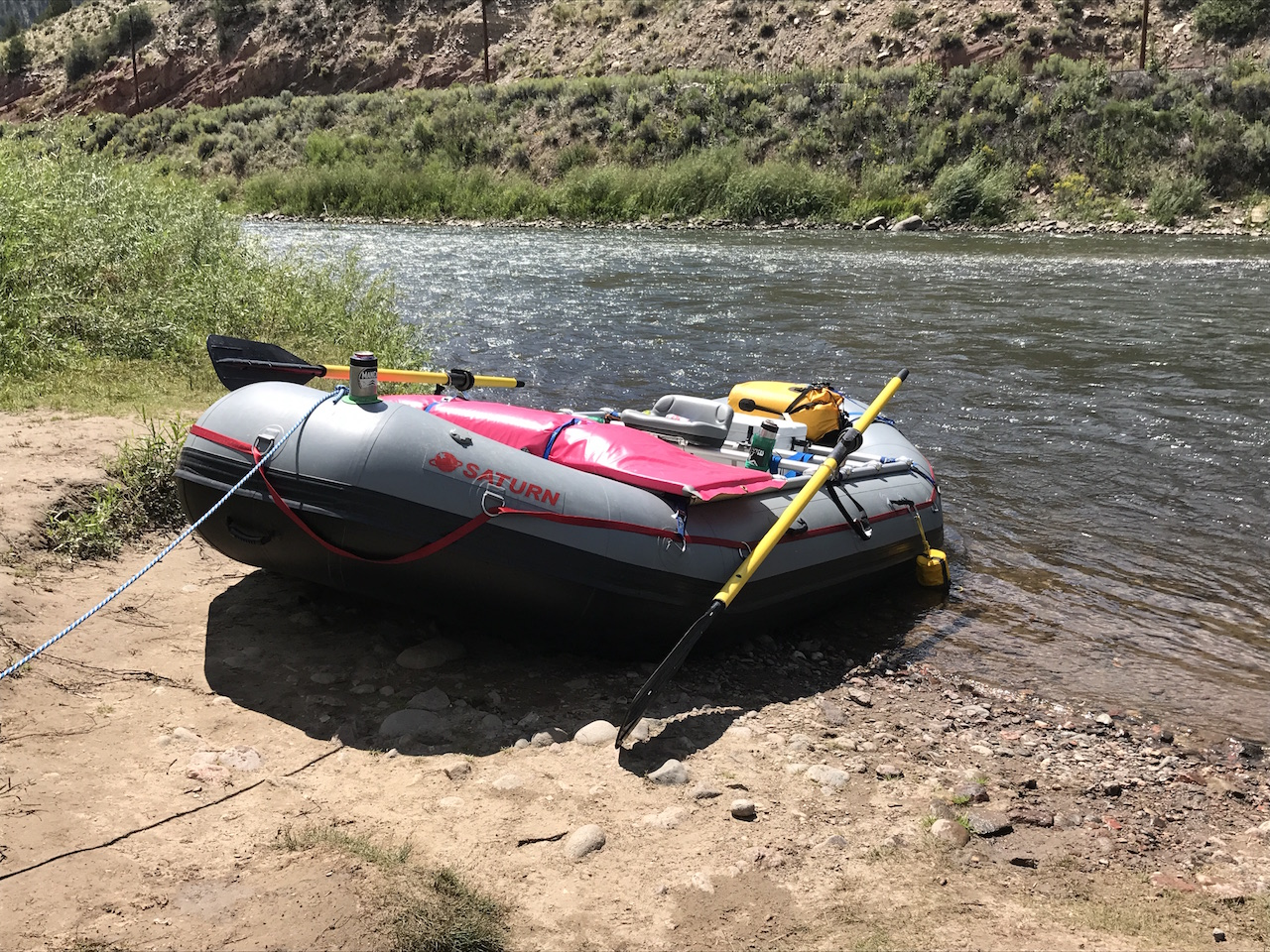 New 2017 Color Option - Dark Grey 14' Saturn Whitewater Raft