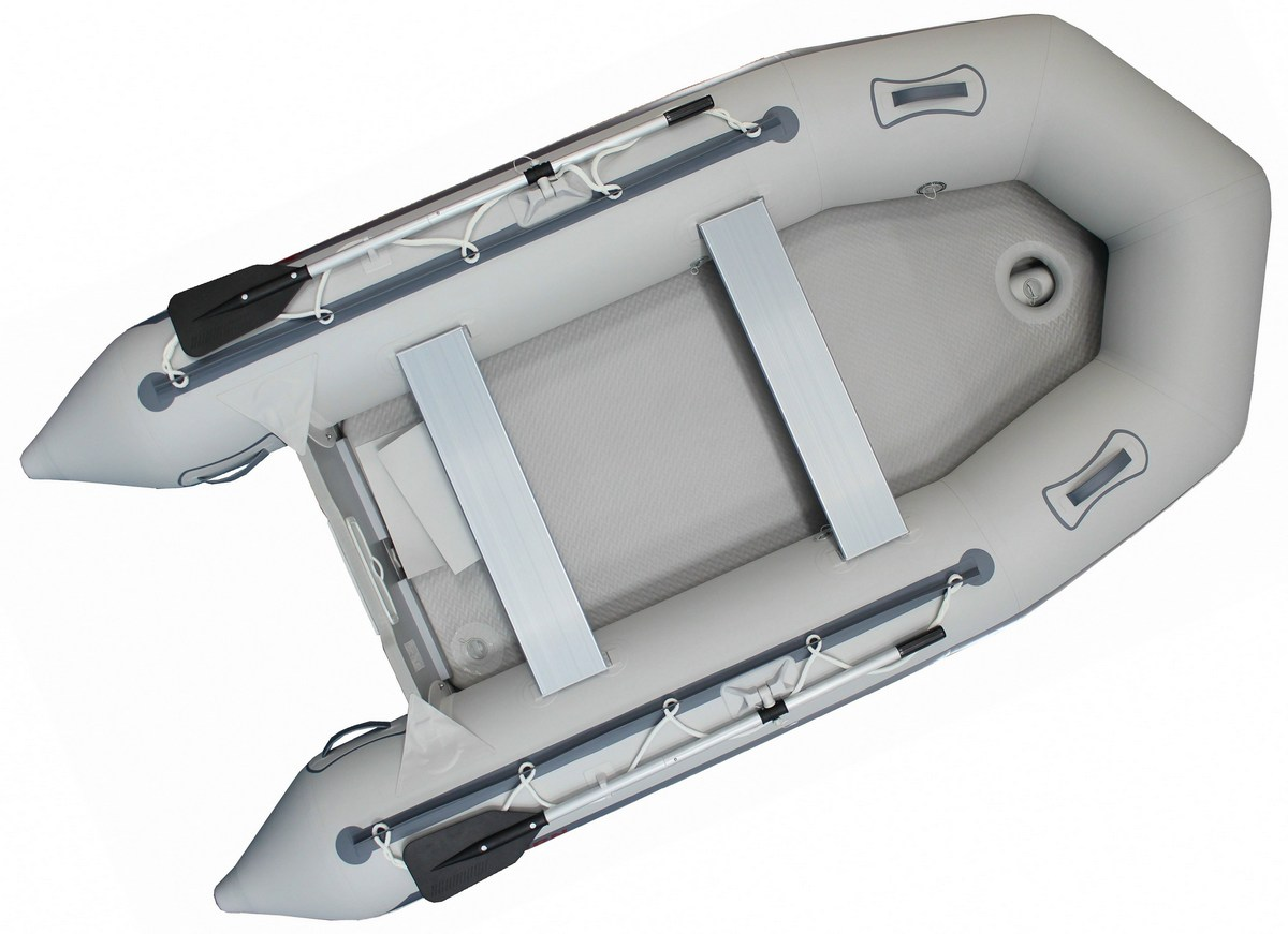 11.9' Budget Boat by Saturn - Grey with Upgraded Air Floor
