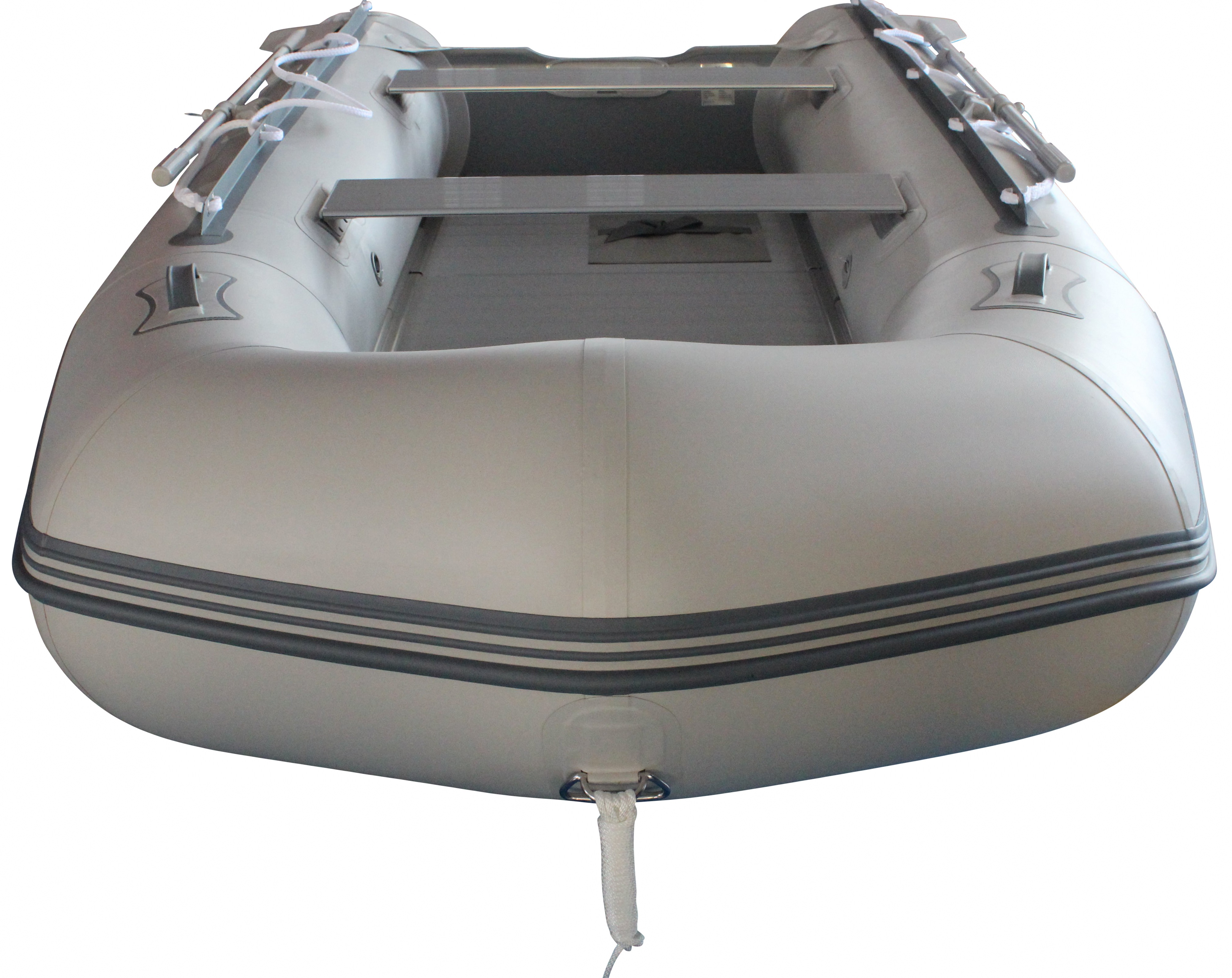 12.5' Budget Boat by Saturn - Grey Front View