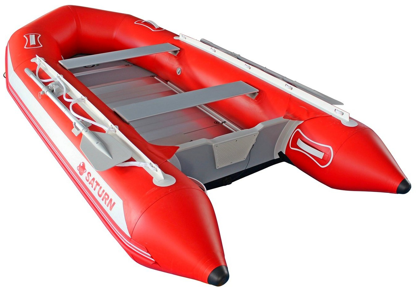 12.5' Budget Boat by Saturn - Red Top View