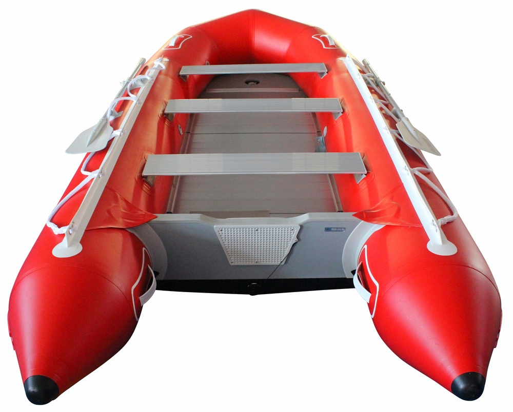 13.5' Inflatable Boat SD410 by SATURN - Red Rear View