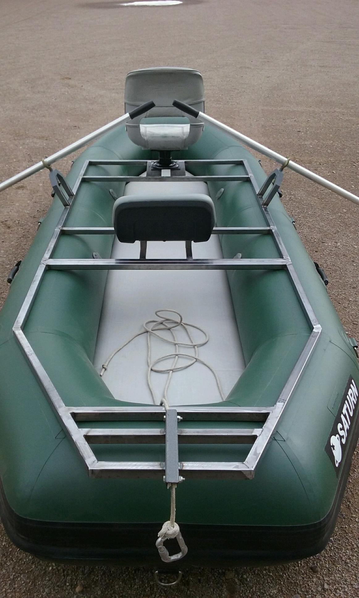 "12'6"" Saturn Soloquest Whitewater Raft with Custom Frame - Rear View"