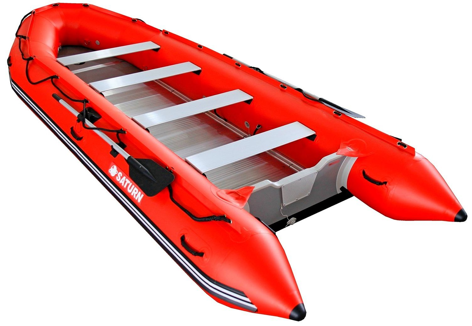 16' Saturn SD487 Inflatable Boat with Aluminum Sectional Floor