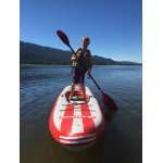 Cannon Janson rockin' the Airfast Kayak SUP!