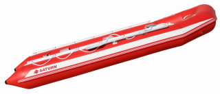 15' Saturn Inflatable SD460 Budget Boat - Red Side View