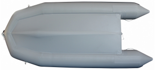 13.5' Inflatable Boat SD410 by SATURN - Grey Bottom View