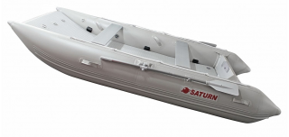 2021 12' Saturn Catamaran - Light Grey - Side View