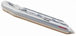 15' Saturn Inflatable SD460 Budget Boat - Grey Side View