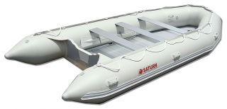 15' Saturn Inflatable Boat - SD470 - w/ Aluminum Floor - Angle View