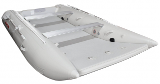 2021 12' Saturn Catamaran - Front View - Light Grey