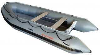 New 2018 14' Saturn Inflatable Boat - Dark Grey Color