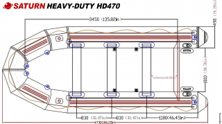 15' Saturn Heavy Duty Fishing Boat - Specs