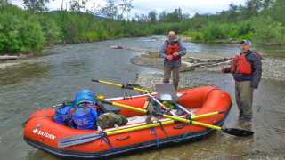 13' Saturn Whitewater Raft on Multi-Day Alaska Float Fishing Trip with Alaska River Connection