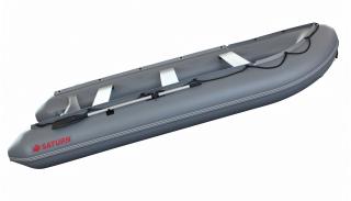 2020 14' Saturn Performance KaBoat (Dark Grey) - Side View