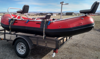 "Customer Photo - 14'6"" Saturn Whitewater Raft (Outfitter Floor) with NRS Fishing Frame"