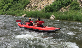 Customer Photo - Tandem 13' Saturn Whitewater Kayak WK396