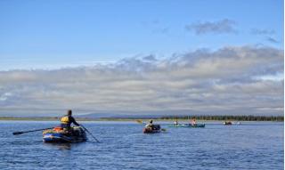 Customer Photo - Older Version 12' Saturn Raft/Kayak w/ Custom Frame