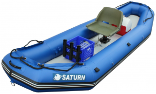 New 12' Saturn Raft/Kayak - RD365X - Top View with 3rd Party Seat Installed (Upgraded Leafield C7 Valves and Outfitter Floor Not Shown)