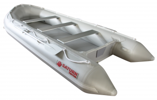 All New 14' Saturn Long Tender (Triton Version) With Dropstitch Floor - Angled View
