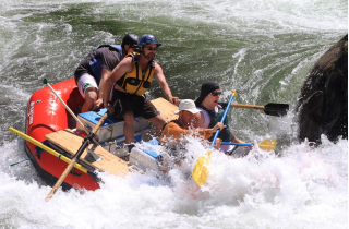 14' Saturn Whitewater Raft in Class IV Water