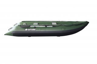 New 2020 13' Saturn Outfitter KaBoat - Hunter Green - Side View