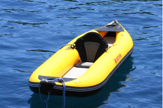 Customer Photo - 13' Saturn Whitewater Kayak WK396 Yellow