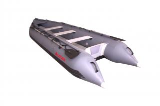 2020 15' Saturn Outfitter Series KaBoat (Alaska Upgrades) - Gun Metal Grey Side View