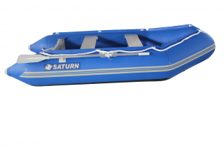 "9'6"" Saturn Dinghy SD290 Blue - Side View"