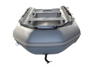 2020 11' Saturn SD330 Dinghy (Dark Grey) With Upgraded C7 Style Inflation Valves - Front View