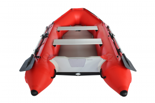 2020 11' Saturn SD330 Dinghy (Red) With Upgraded C7 Style Inflation Valves - Rear View