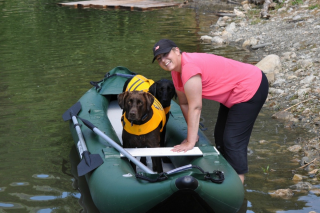 Customer Photo - 13' Saturn Fishing Kayak FK396 - Gotta Love the Dog!