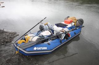 Customer Photo - Older Version 12' Saturn Raft/Kayak Blue w/ Custom Frame