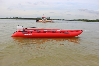 15' Saturn KaBoat SK470 - Red - On the Water