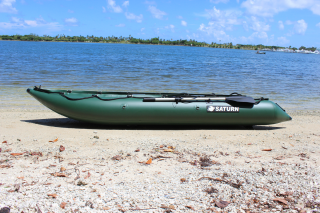 12' Saturn KaBoat SK396 - Green - Side View