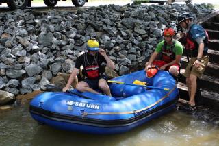 """Customer Photo - 9'6"""" Saturn Whitewater Raft - Blue"""