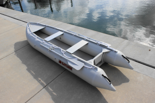 12' Saturn KaBoat SK396 - Light Grey - Angled View