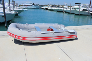 """9'6"""" Azzurro Mare AM290 w/Tube Protector Installed - Side View"""