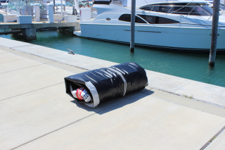 "9'6"" Azzurro Mare Inflatable Boat - Deflated and rolled"