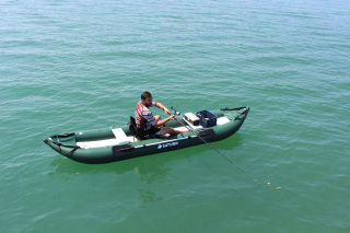 Older Version OFK396 - 13' Saturn Ocean Fishing Kayak (Shown With 1 Optional Highback Kayak Seat Attached)